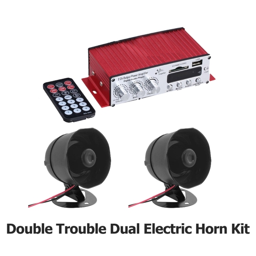 Double Trouble Series Dual Electric Horn Kit